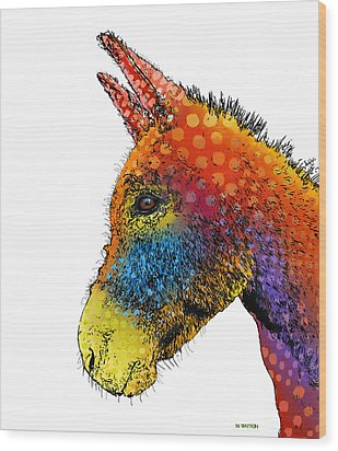 Spotted Donkey Wood Print
