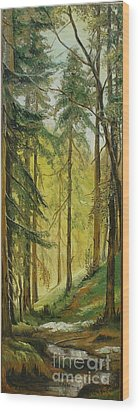 Spring Wood Print by Sorin Apostolescu