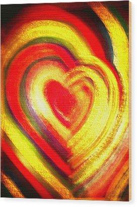 Springtime Love Wood Print by Brenda Adams