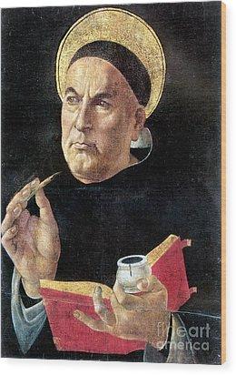 St. Thomas Aquinas Wood Print by Granger