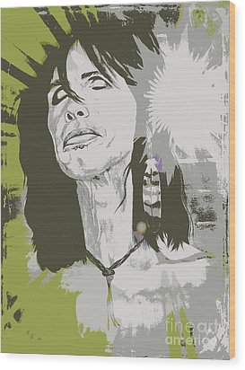 Steven Tyler  Wood Print by Jeepee Aero