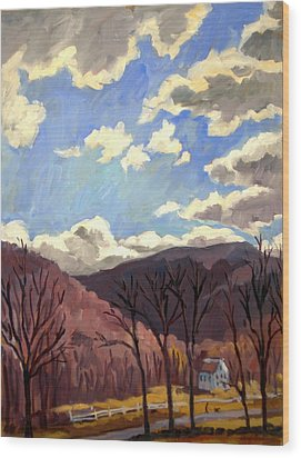 Sunny Autumn Berkshires Wood Print by Thor Wickstrom