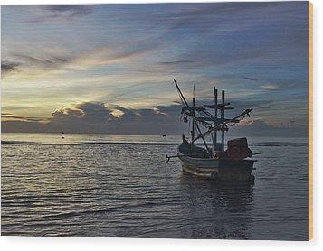 Sunrise On Koh Tao Island In Thailand Wood Print