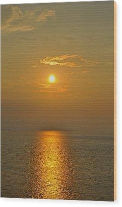 Sunset At Rameshwaram  Wood Print