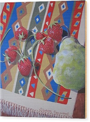 Sunshine On Fruit Wood Print