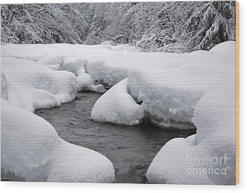 Swift River - White Mountains New Hampshire Usa Wood Print by Erin Paul Donovan