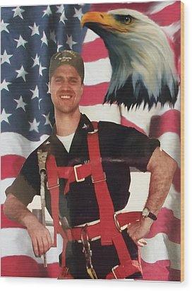 Texas Hero Wood Print