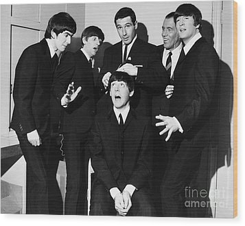 The Beatles, 1964 Wood Print by Granger