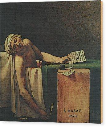 The Death Of Marat  Wood Print