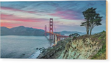 The Golden Gate Wood Print by JR Photography