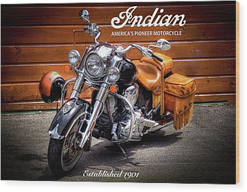The Indian Motorcycle Wood Print