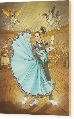 The Magic Dancing Shoes Wood Print by Reynold Jay