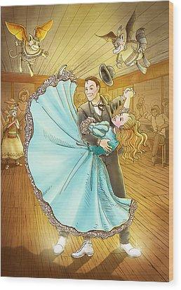 The Magic Dancing Shoes Wood Print