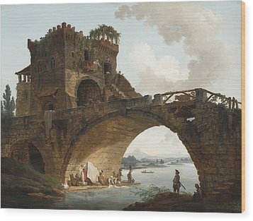 The Ponte Salario Wood Print