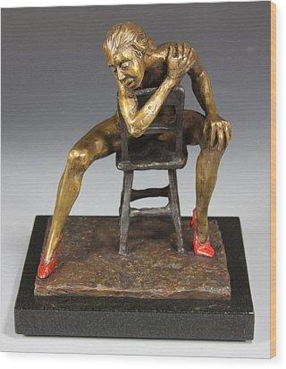 The Red Heels Wood Print by Dan Earle
