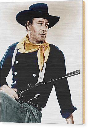 The Searchers, John Wayne, 1956 Wood Print by Everett