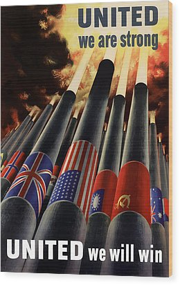 The United Nations Fight For Freedom Wood Print by War Is Hell Store