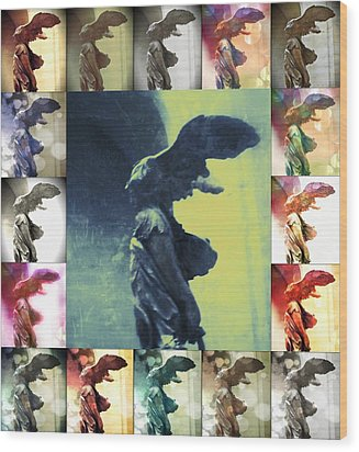 The Winged Victory - Paris - Louvre Wood Print by Marianna Mills