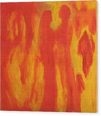 Through Love Wood Print by Bebe Brookman