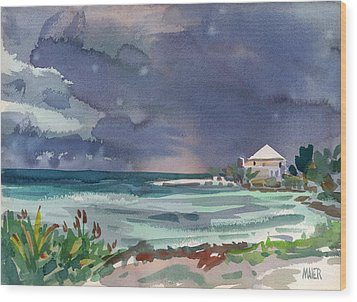 Thunderstorm Over Key West Wood Print
