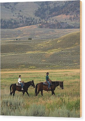 Trail Ride Wood Print by Marty Koch