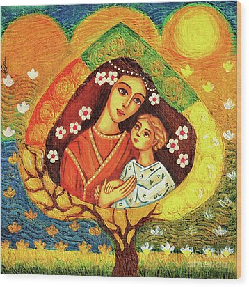 Wood Print featuring the painting Tree Of Life by Eva Campbell