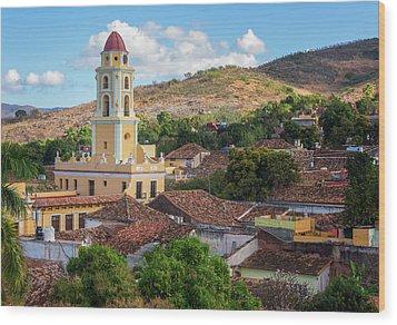 Wood Print featuring the photograph Trinidad Cuba Cityscape II by Joan Carroll