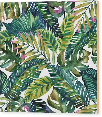 Tropical  Wood Print