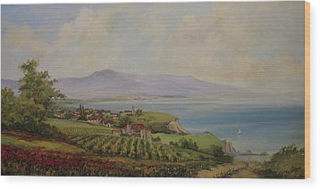 Tuscan Landscape Wood Print by Tigran Ghulyan
