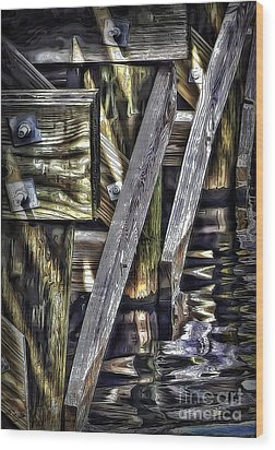 Under The Boardwalk Wood Print by Walt Foegelle