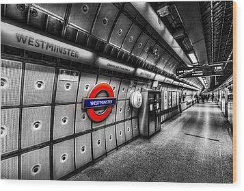 Underground London Wood Print by David Pyatt