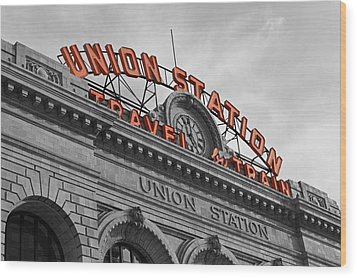 Union Station - Denver  Wood Print by Mountain Dreams