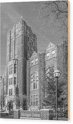University Of Michigan Union Wood Print