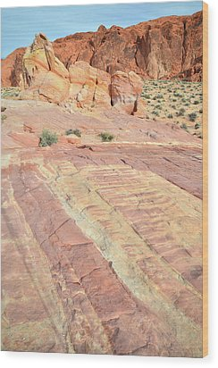 Wood Print featuring the photograph Valley Of Fire Rainbow by Ray Mathis