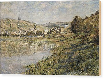 Vetheuil Wood Print by Claude Monet