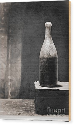 Vintage Beer Bottle Wood Print
