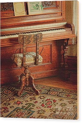 Wood Print featuring the photograph Vintage Piano by Jill Battaglia