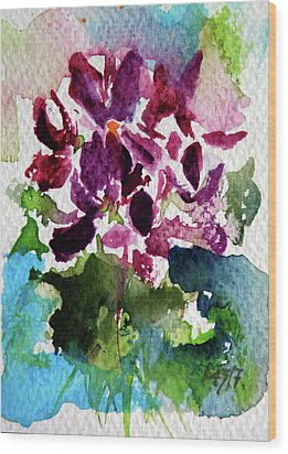 Wood Print featuring the painting Violet by Kovacs Anna Brigitta