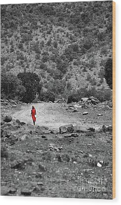 Wood Print featuring the photograph Walk  by Charuhas Images