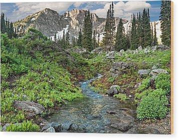 Wasatch Mountains Utah Wood Print by Utah Images