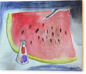 Watermelon Wood Print by Jamie Frier