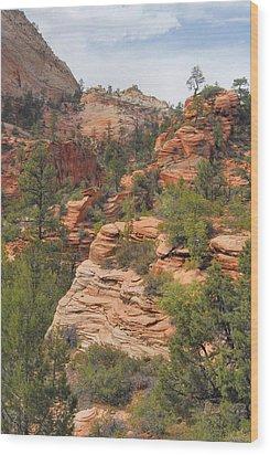 West Zion Landscape Wood Print