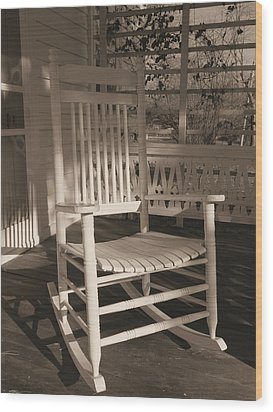 Wood Print featuring the photograph White Rocker by Scott Kingery