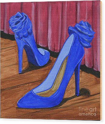 Who Wears These Shoes Wood Print by Gail Finn