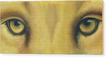 Whos Watching Who Wood Print by Darlene Green