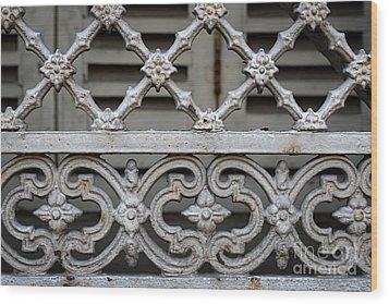 Wood Print featuring the photograph Window Grill In Toulouse by Elena Elisseeva