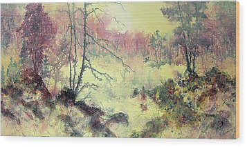 Woods And Wetlands Wood Print by Carolyn Rosenberger