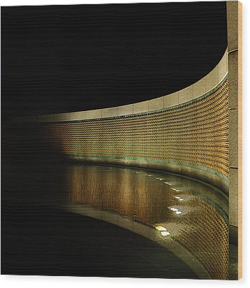World War II Memorial - Stars Wood Print by Metro DC Photography