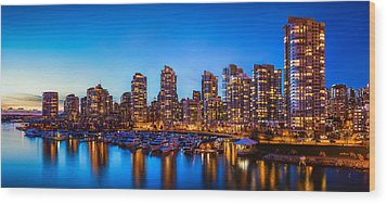 Yaletown From Cambie Bridge Wood Print by Alexis Birkill
