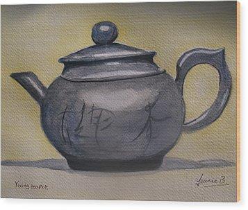 Yixing Teapot Wood Print by Jean Billsdon